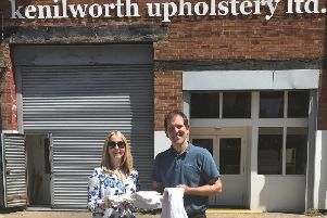 Sally Wilson and Kenilworth Upholstery director Gary Warren.