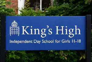 The King's High School sign in Warwick. Photo by Gill Fletcher.