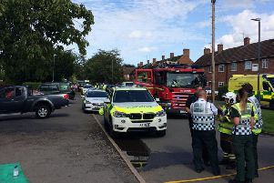 Emergency services respond to 'complex incident' in Kenilworth on Saturday August 17. (photo from Warwickshire Fire and Rescue Service twitter)