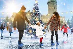 An ice rink will be set up at Warwick Castle this festive season. Photo by Warwick Castle.