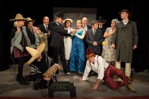 Dress Rehearsal  of Stewkley Players 119th  production. A musical comedy, Dick Barton, Episode III, The Tango of Terror