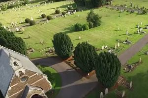 Drone view of Vandyke Road Cemetery