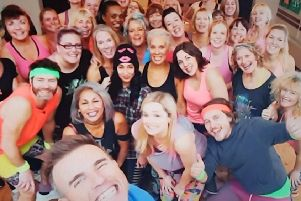 Take That joined in with the Zumba routine