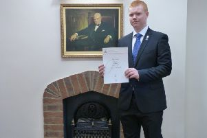 Award winner: Tom is a member of the United Kingdom Network Scouts and attends Central Bedfordshire College.