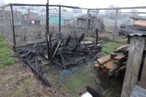 Four sheds were burnt down at Totternhoe allotments