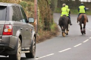 Horse riders are taking to the roads to make their point