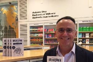 Mark Simmonds with his book 'Breakdown and Repair'