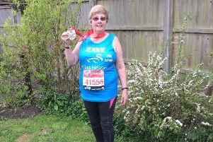 Jennie completed the London Marathon and raised over �5,000 for Willen Hospice