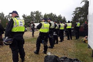 Police shut down the illegal rave