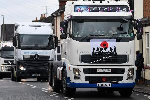 The truck convoy passed through Dunstable and Leighton Buzzard