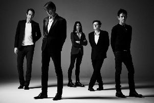Suede: Mat Osman, Brett Anderson, Neil Codling, Richard Oakes and Simon Gilbert