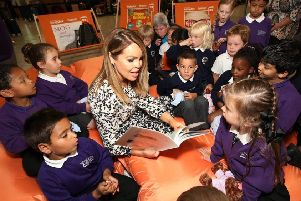 Katie Piper at the launch of easyJet's flying libraries PNL-190717-091143001