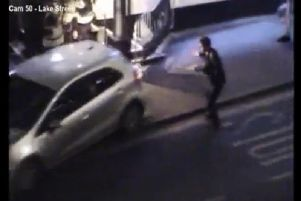 A CCTV still of the incident