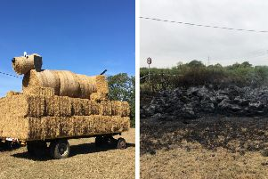 Left: The Young Farmers's creation. Right: in ruins.