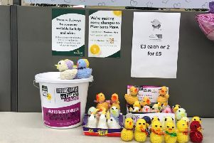 At Easter Morrisons sold hand knitted Easter chicks to raise money for CLIC Sargent