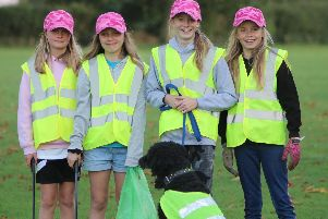 Chloe, Emily, Sanchia and Sinead have been litter picking in Stewkley