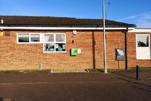 Defibrillator is on the outside of the community centre