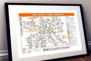 The Luton Town tube Map