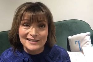 Lorraine Kelly speaking during her video.