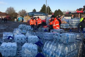 Bottled water at Tesco. Photo Anglian Water