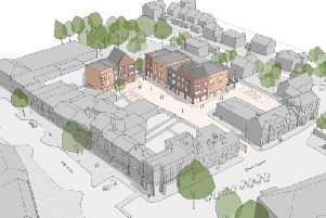 A map of the proposed flats behind Church Square