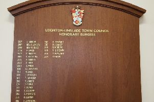 The Honours Board in the Council Chamber at the White House, which ensures ongoing recognition for all the worthy recipients of the award
