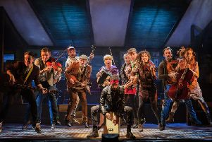 The cast of Once. Picture: Mark Senior