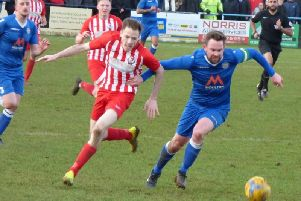 Danny Webb scored twice against Tring Athletic on Tuesday evening (File pictures by Andrew Parker)