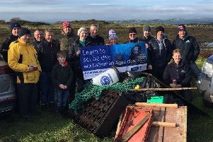 Cleaning up the coastline: Peter Kay, Michael McEntee, Philip McCollum, Mikey Munroe, Callum Munroe, Peter Crossett, Rachel Murdoch, Colin MacDonald, Cheryl Jenkins, Michael Hickland, Lewis Mulholland, Peter O'Halloran, Roisin Maguire and Stephen McFerron.
