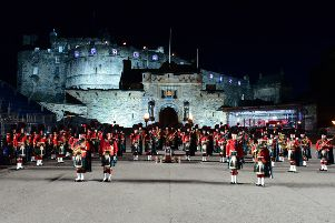 Photo Caption - The 2017 Royal edinburgh Military Tattoo at edinburgh castle