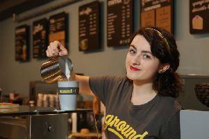 Sofie Owens, Barista at Ground Espresso Bars, officially launches the company's pioneering initiative 'Reuse at Ground'.
