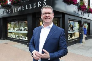 Jim Conlon of Midas Jewellers on Bow Street, Lisburn,