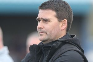 Linfield manager David Healy. Photo Aidan O'Reilly/Pacemaker Press