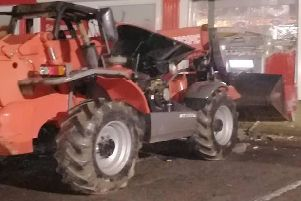 Digger used in attempted theft