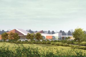 An artist's impression of the proposed Lisburn crematorium