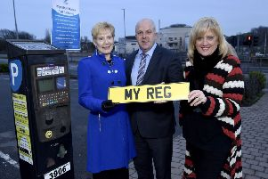 Lisburn and Castlereagh City Council has insisted the picture it issued on Friday of councillor Janet Gray MBE, Alderman James Tinsley and council director Heather Moore launching the new car parking meters was 'for illustrative purposes only' and the roll-out of the scheme has not taken place