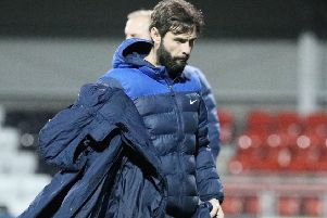 Glenavon boss Gary Hamilton. Pic by Pacemaker.