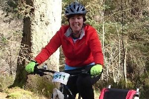 Claire gets on her bike for charity