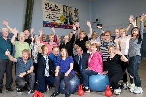 Pictured with Councillor Jonathan Craig are members of Glenmore Fitness and Social Club. The group meet every Tuesday at Glenmore Activity Centre for fitness and fun!
