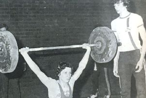 Richard Toase of Wallace High School lifted a personal best of 65 kilos at the Wallace High School Invitation Centenary Weight-Lifting Competition in 1970