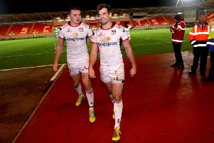 Ulster's Jacob Stockdale and Louis Ludik