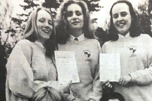 Duke of Edinburgh bronze award winners from Larkfield High School in 1993 - Lindsay McCormack, Stephanie McMaster, Kelly Saunders, Robert Stoker and Barry Clarke