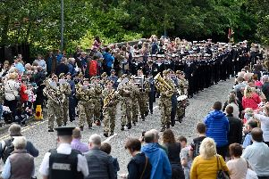 Music played a large part of the Armed Forces Day parade.  Photo:  McAuley Multimedia.