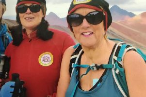 Lisburn pair Donna McIlwaine and Kathleen Lindsay have taken part in six Action Cancer treks raising �35,000