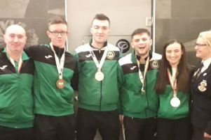 Tom Cunningham(Coach), Mathew Daly, Craig Ryan, Pearse O'Callaghan, Niamh Cunningham and Siobhan Leckey (Referee and Chief Instructor)