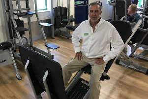 Chris Lane at his new gym for older adults in Lanes Health Club, Golfers Lane, Angmering