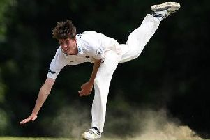 George Garton in action for Sussex during the 2017 season.