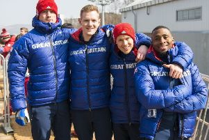 25/02/2018 - Team GB compete in the four man Bobsleigh, at the 2018 Pyeongchang Winter Olympic Games. Pictures by Andy J Ryan - Team GB SUS-180227-102758002