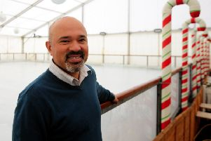 Town centre manager Toyubur Rahman pictured at the rink last Christmas