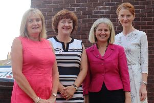 Guild care's deputy chairman of trustees Antonia Hopkins and chief executive Suzanne Millard, Coastal West Sussex Mind chief executive  Katie Glover and Adur & Worthing Councils' Mary D'Arcy have welcomed the grant